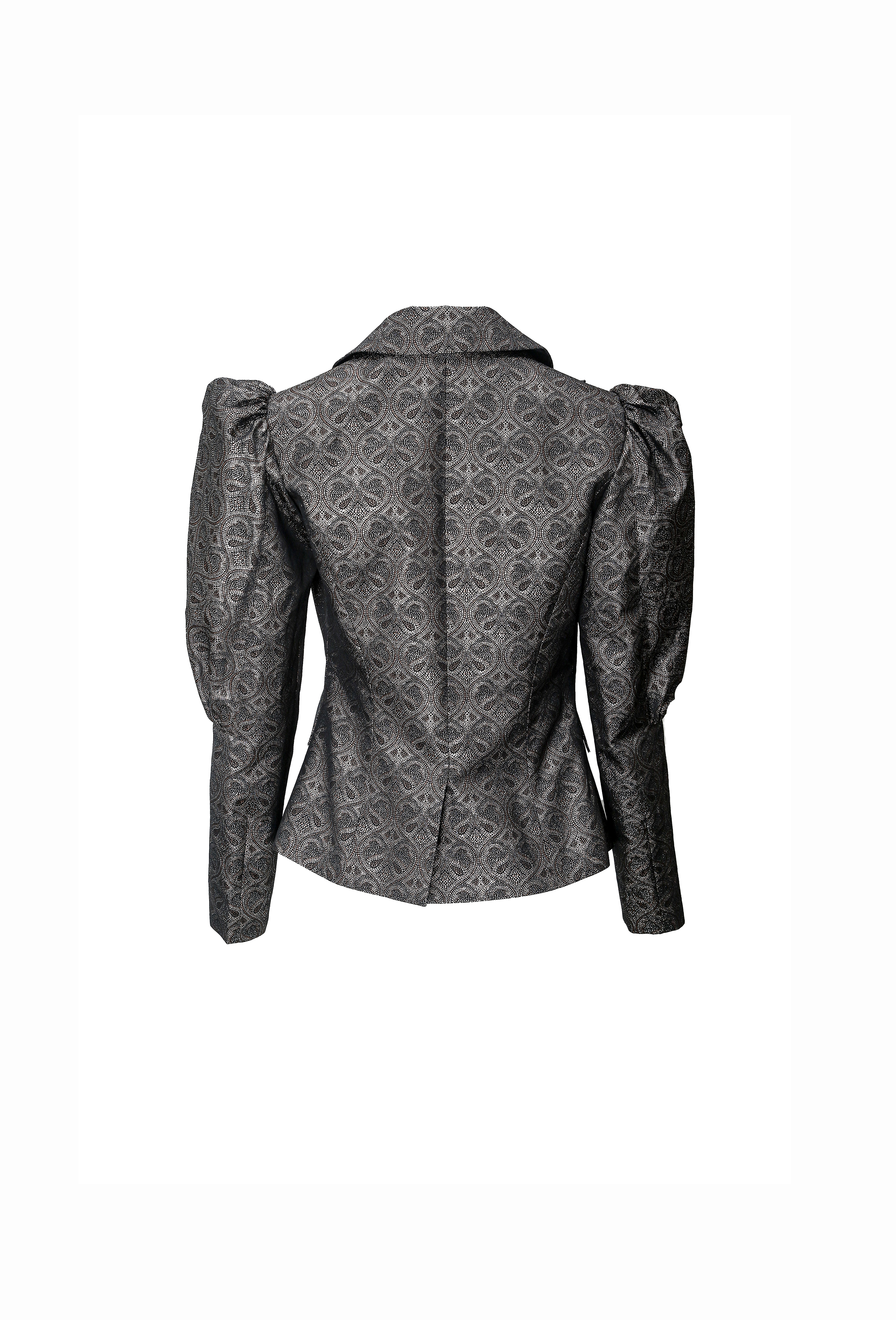 Balloon Sleeve Patterned Jacket