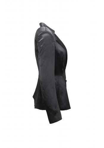 Dark Gray Satin Blazer