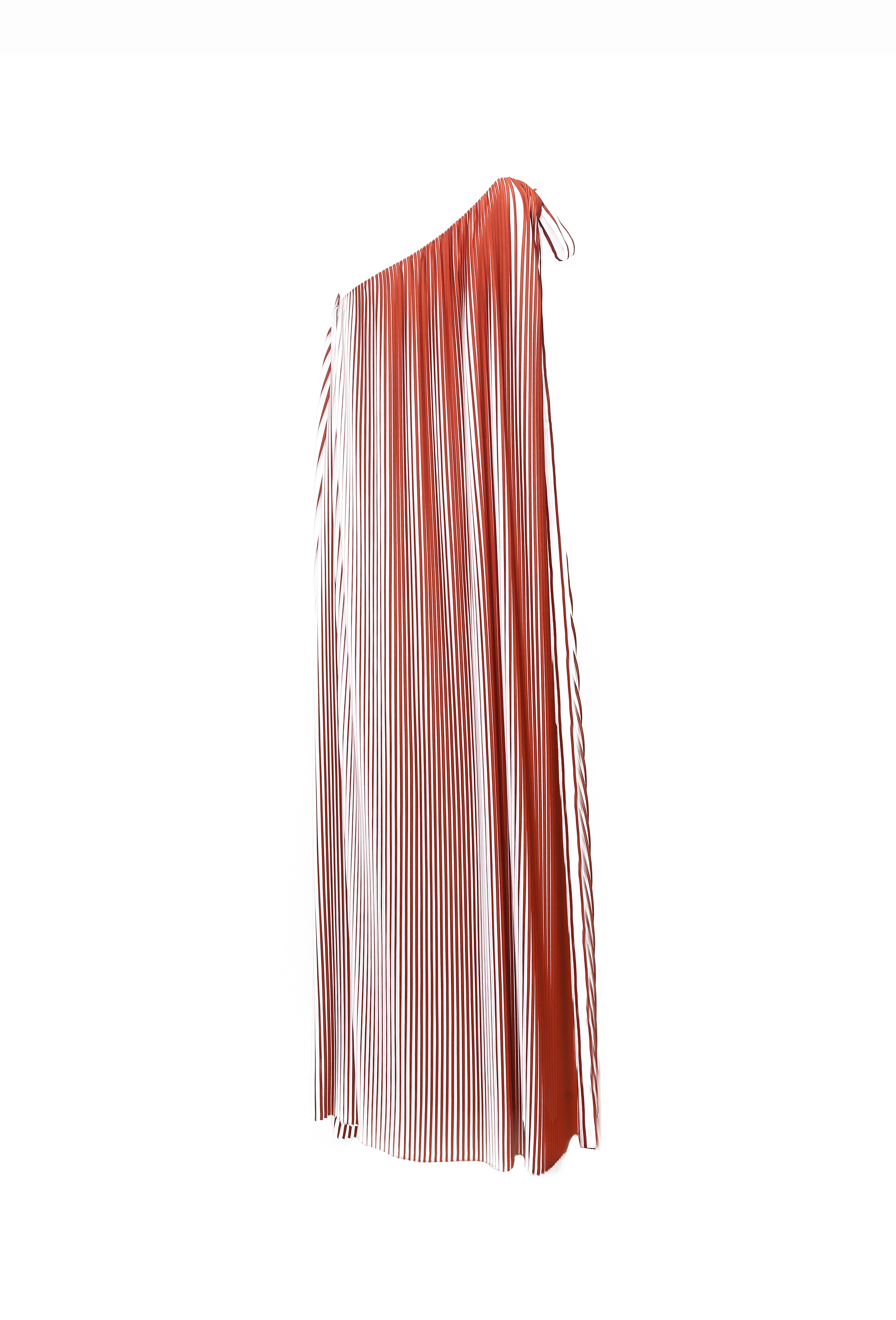 Asymmetry Pleated Gown