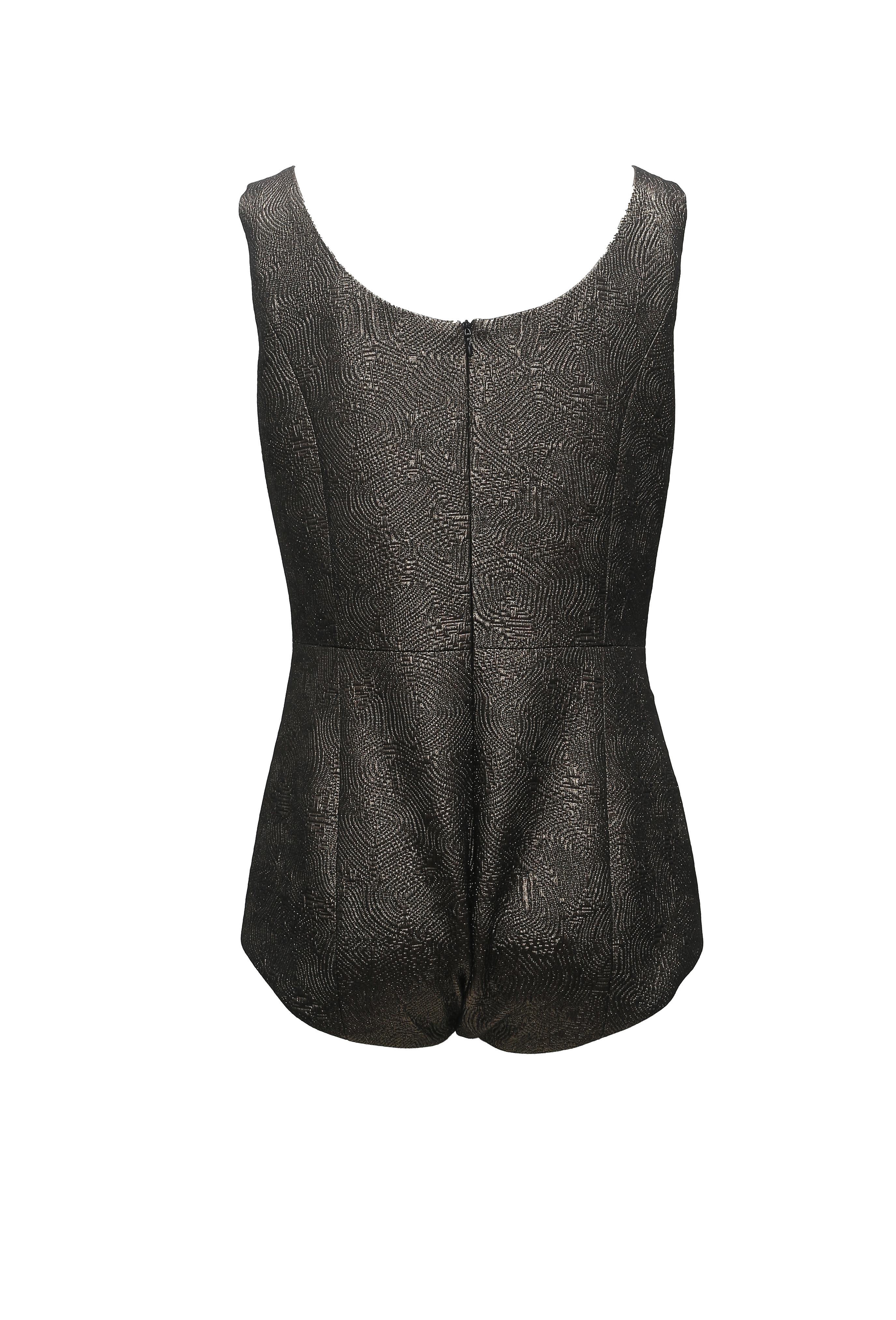 Jacquard Sleeveless Bodysuit