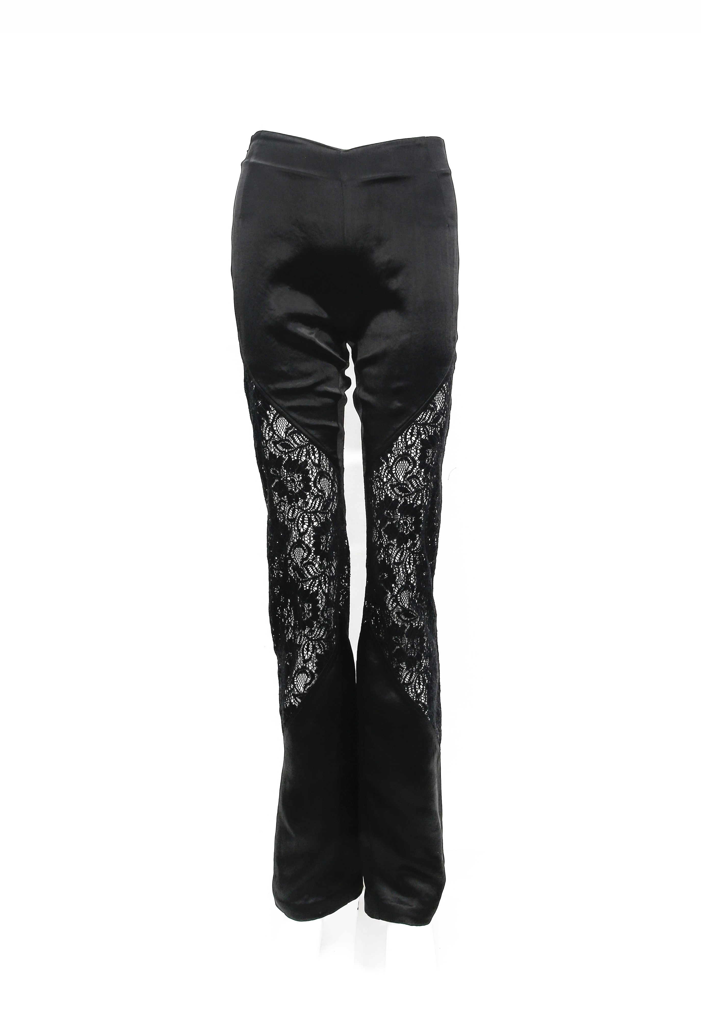 Lace Paneled Pants