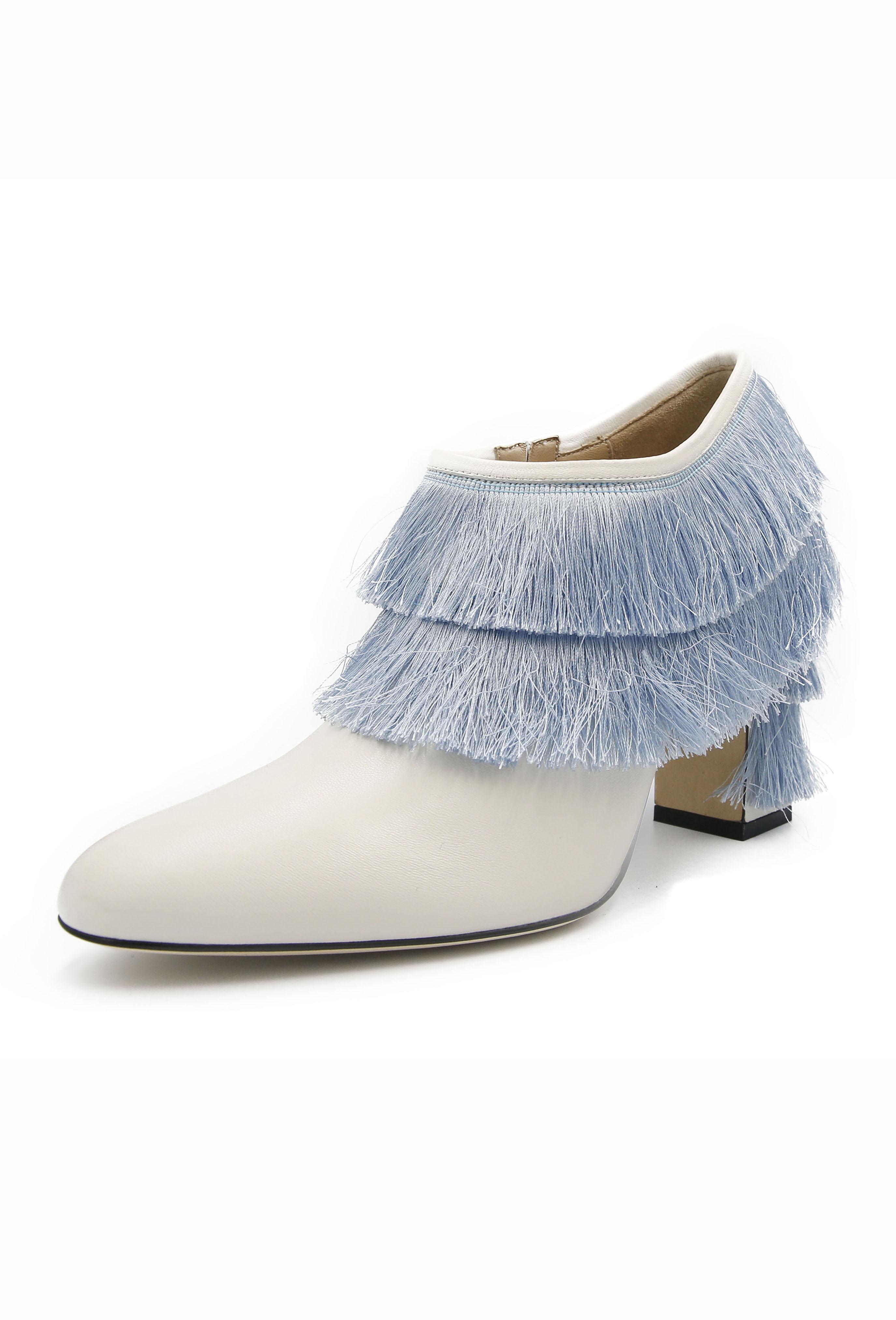 White Rosamonde Heels