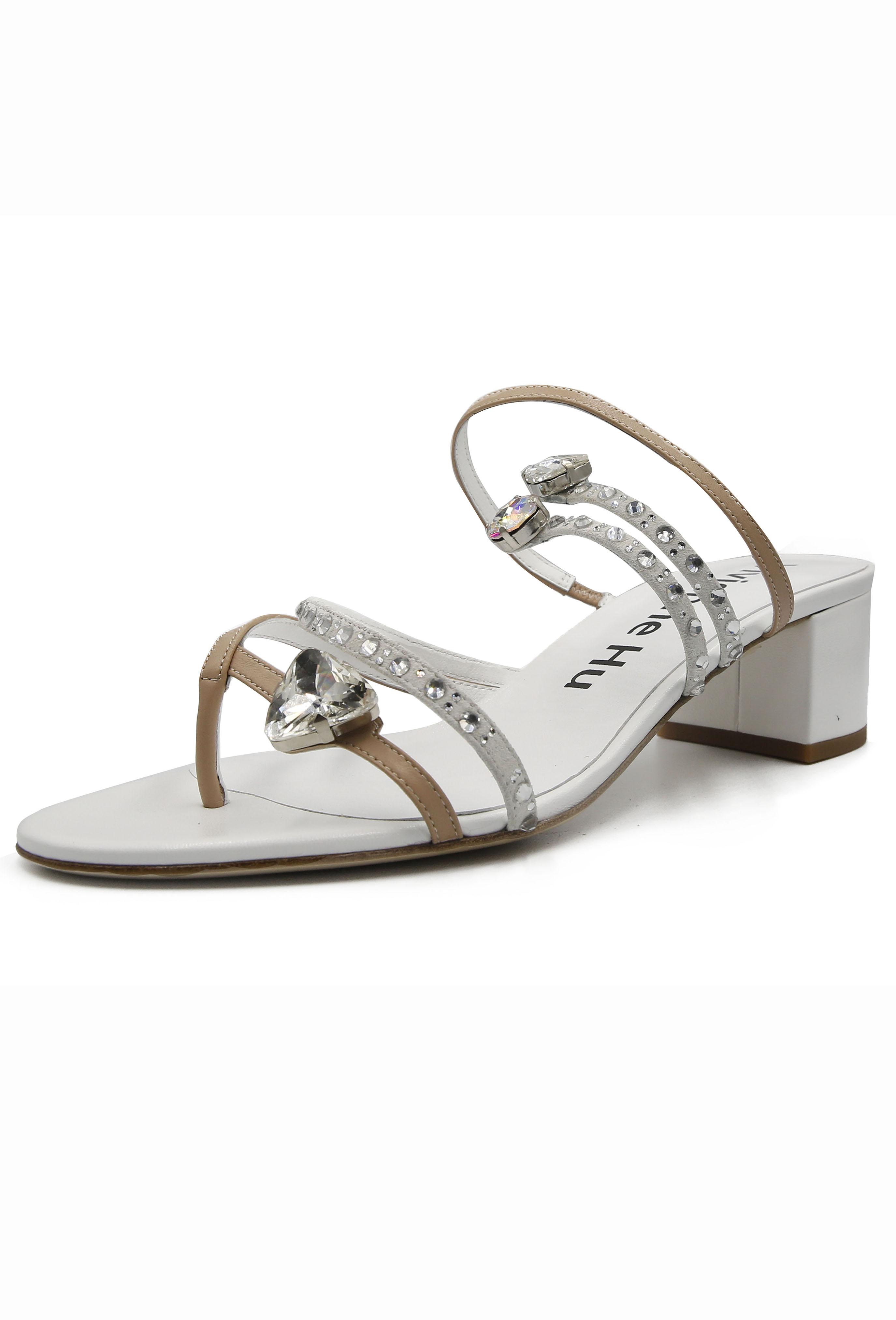 White Estelle Heel Sandles
