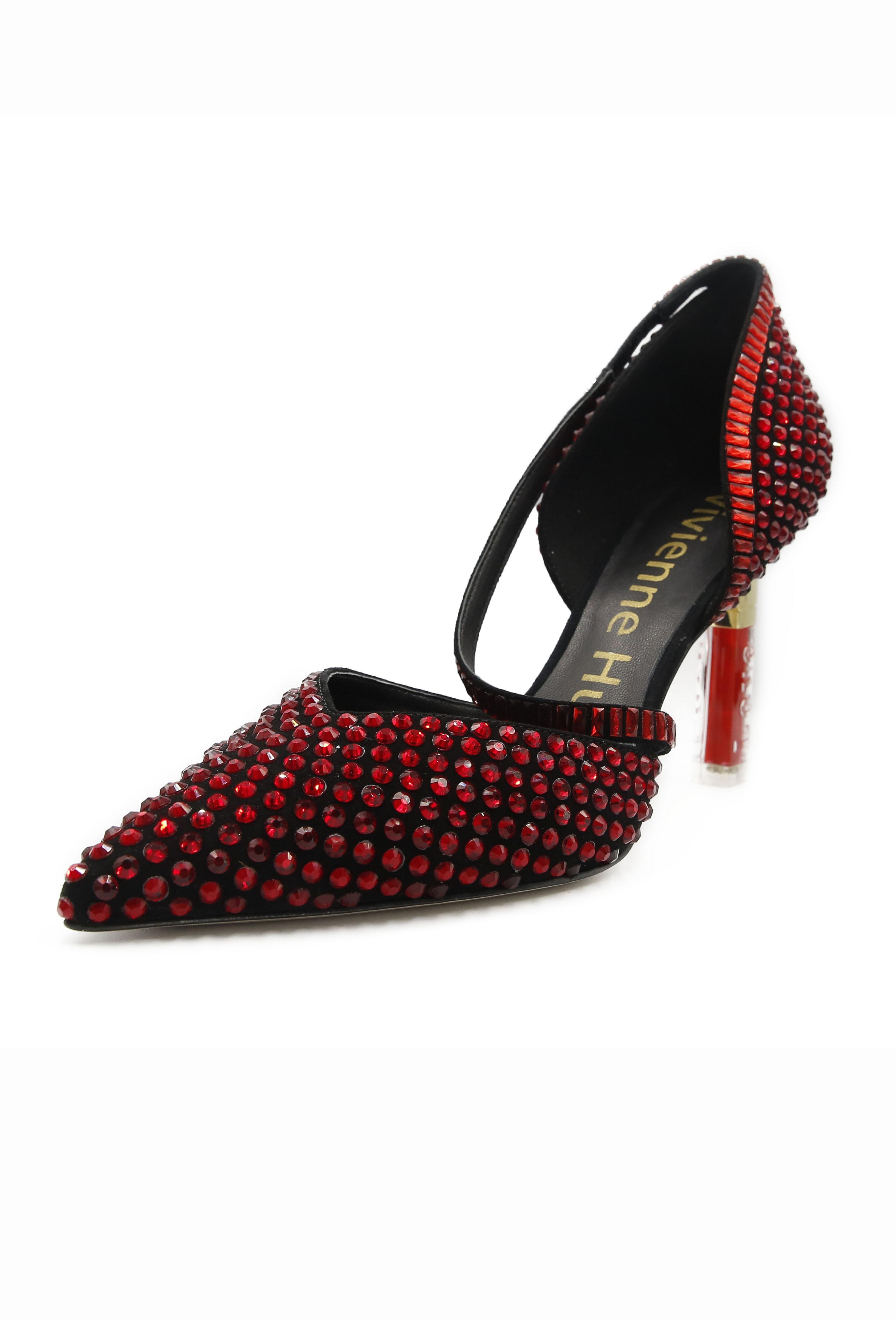 Red Eloise Heels