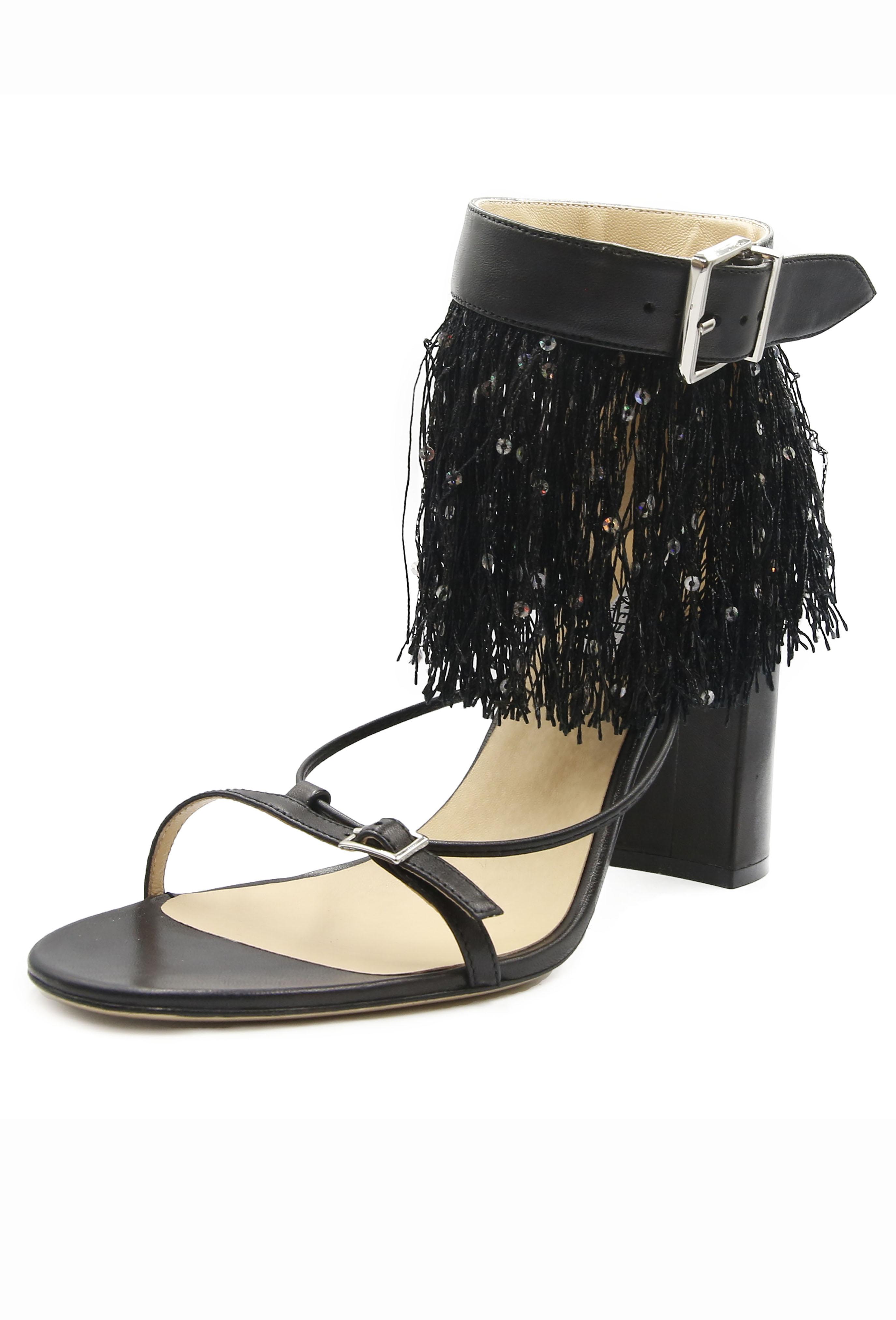 Black Georgine Heels