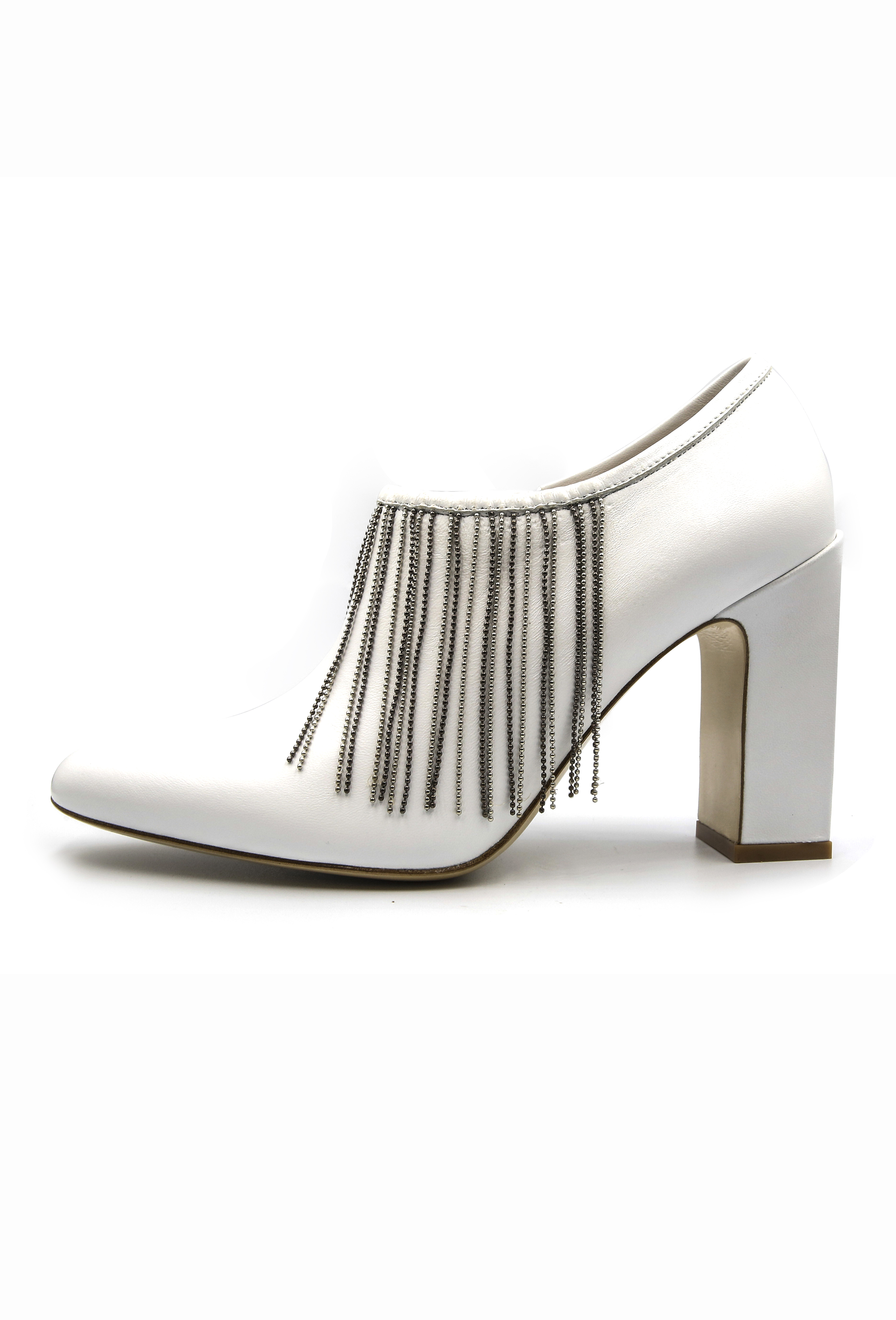 White Nicolette Heels