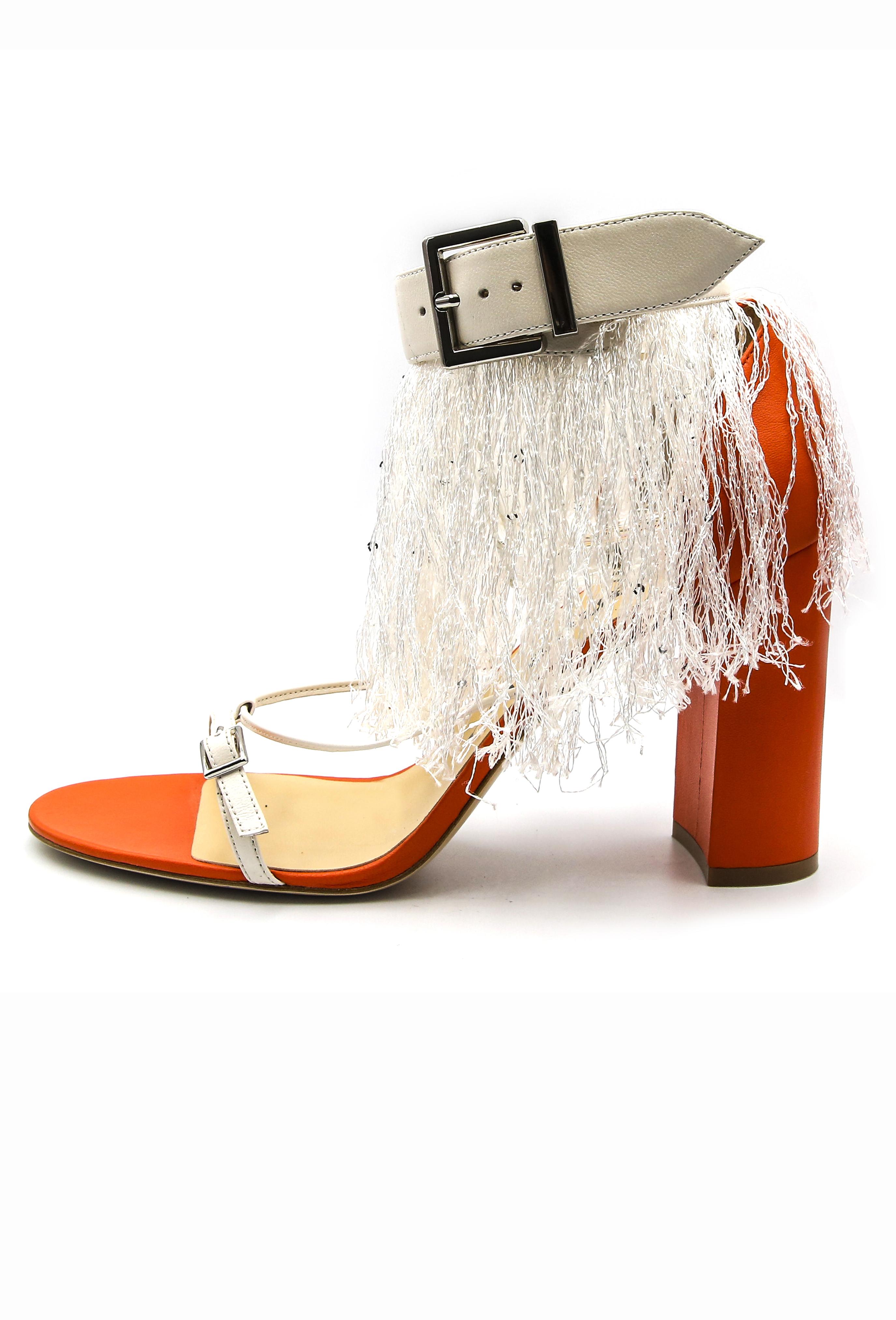 Orange Georgine Heels