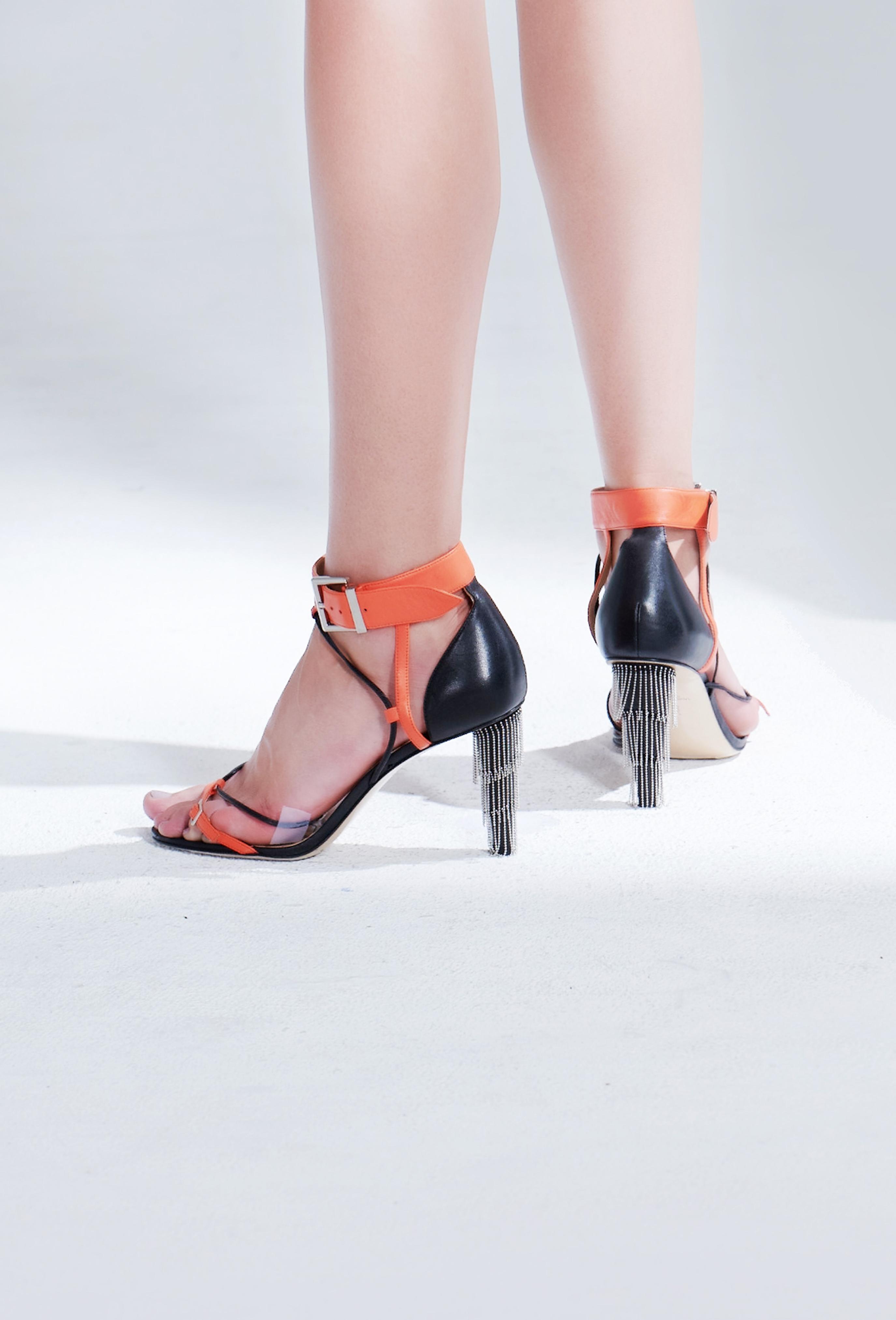 Orange Yvette Heels