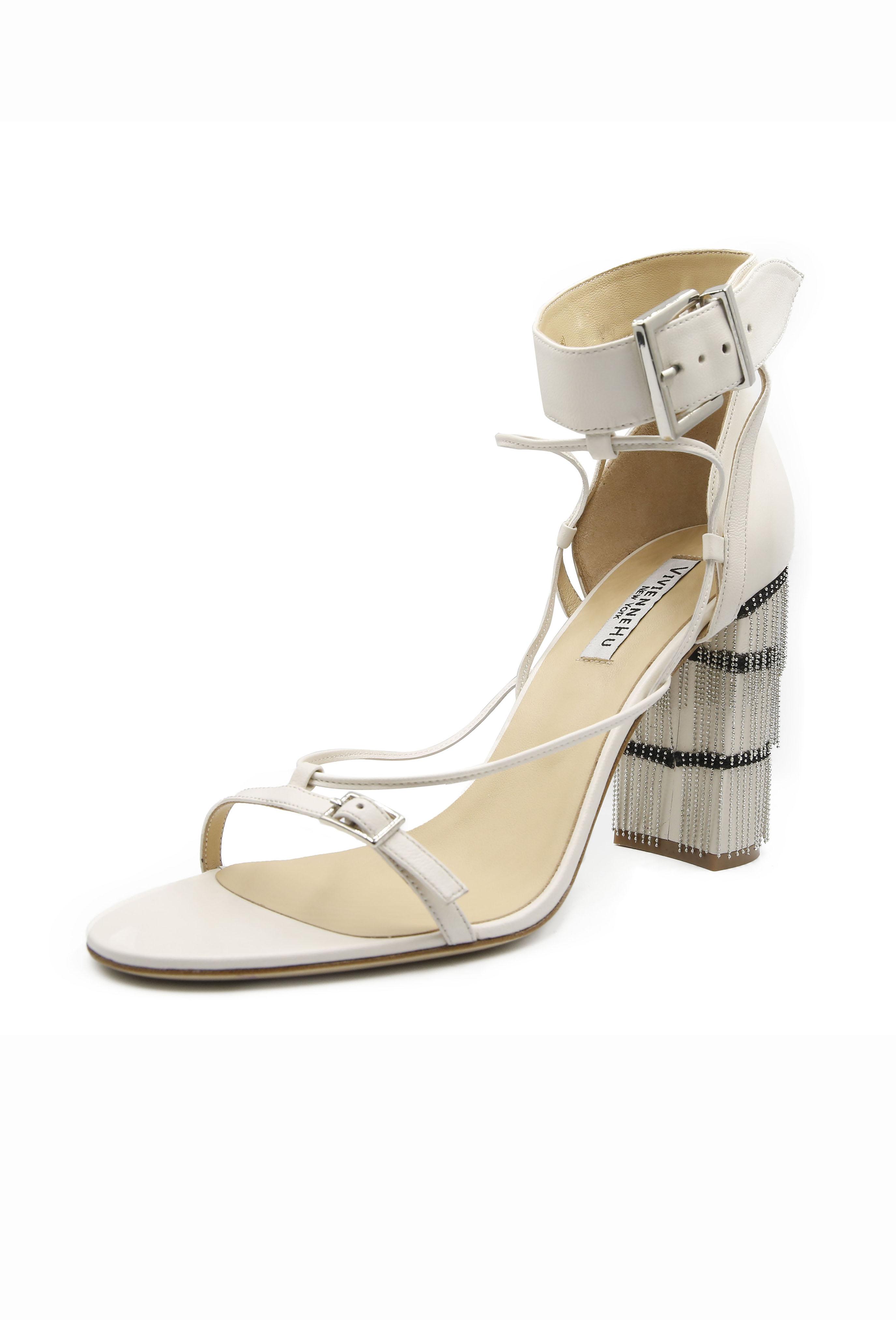 White Honore Heels