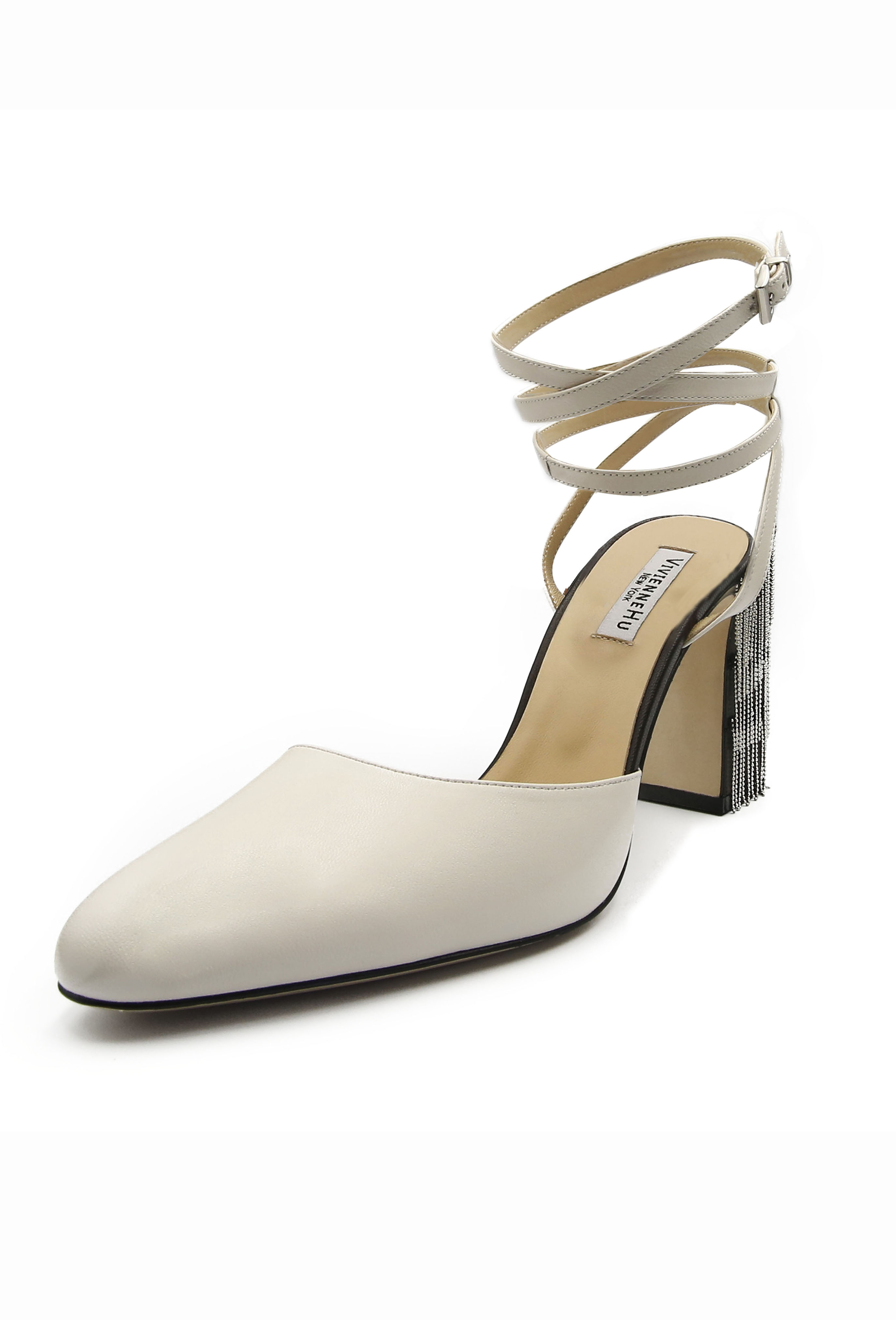 White Pascale Heels