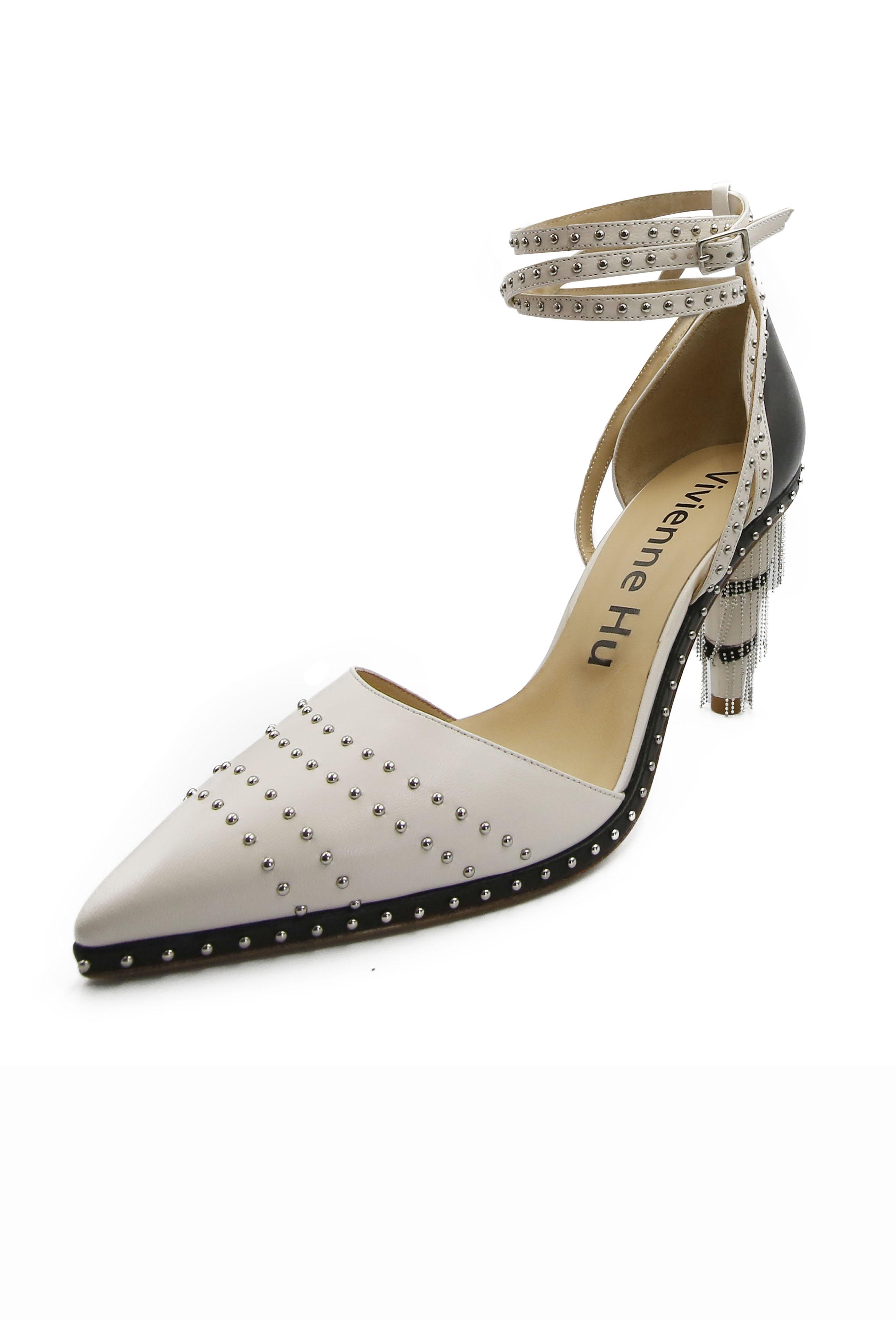 White Gemma Heels