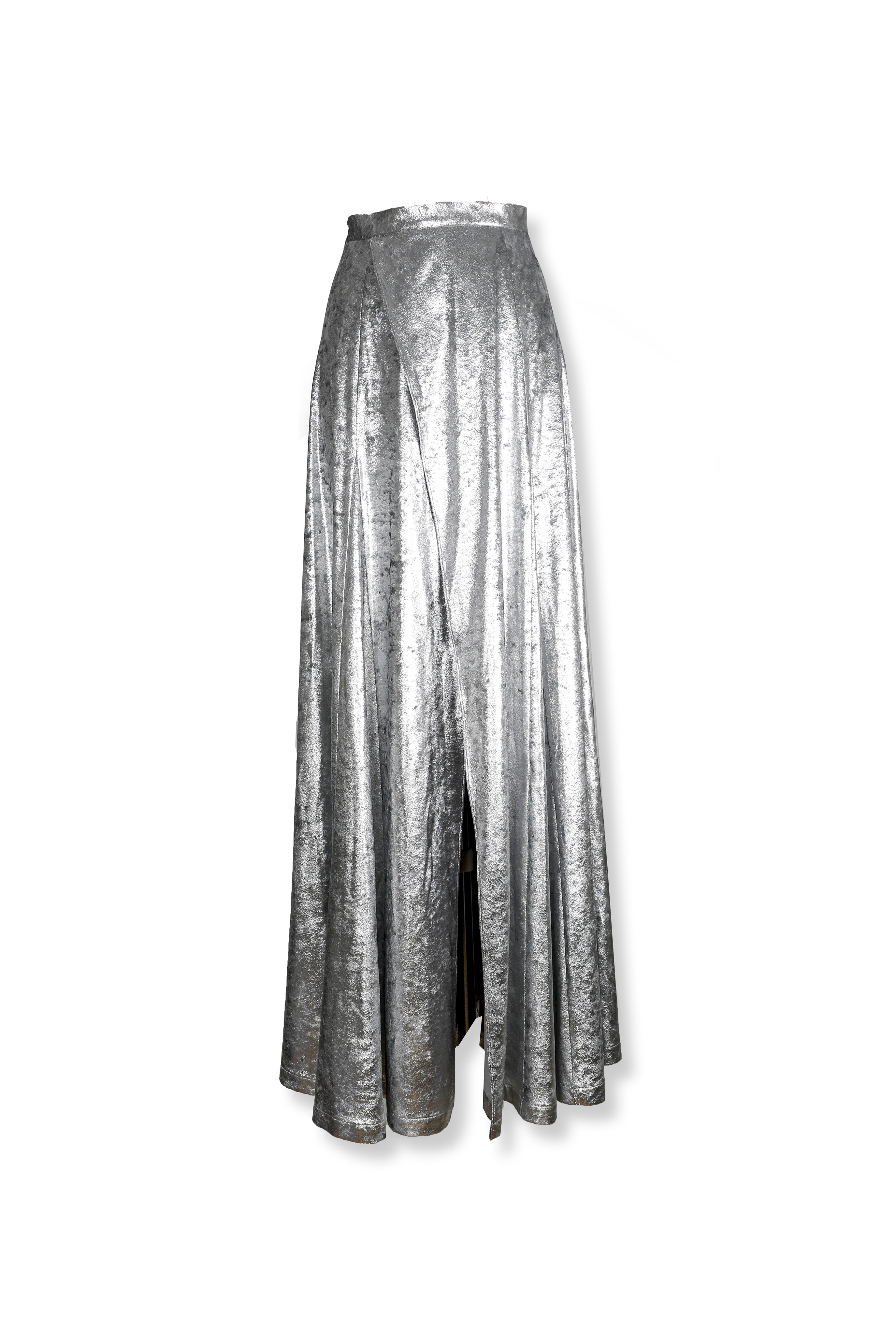 Silver Opening Maxi Skirt