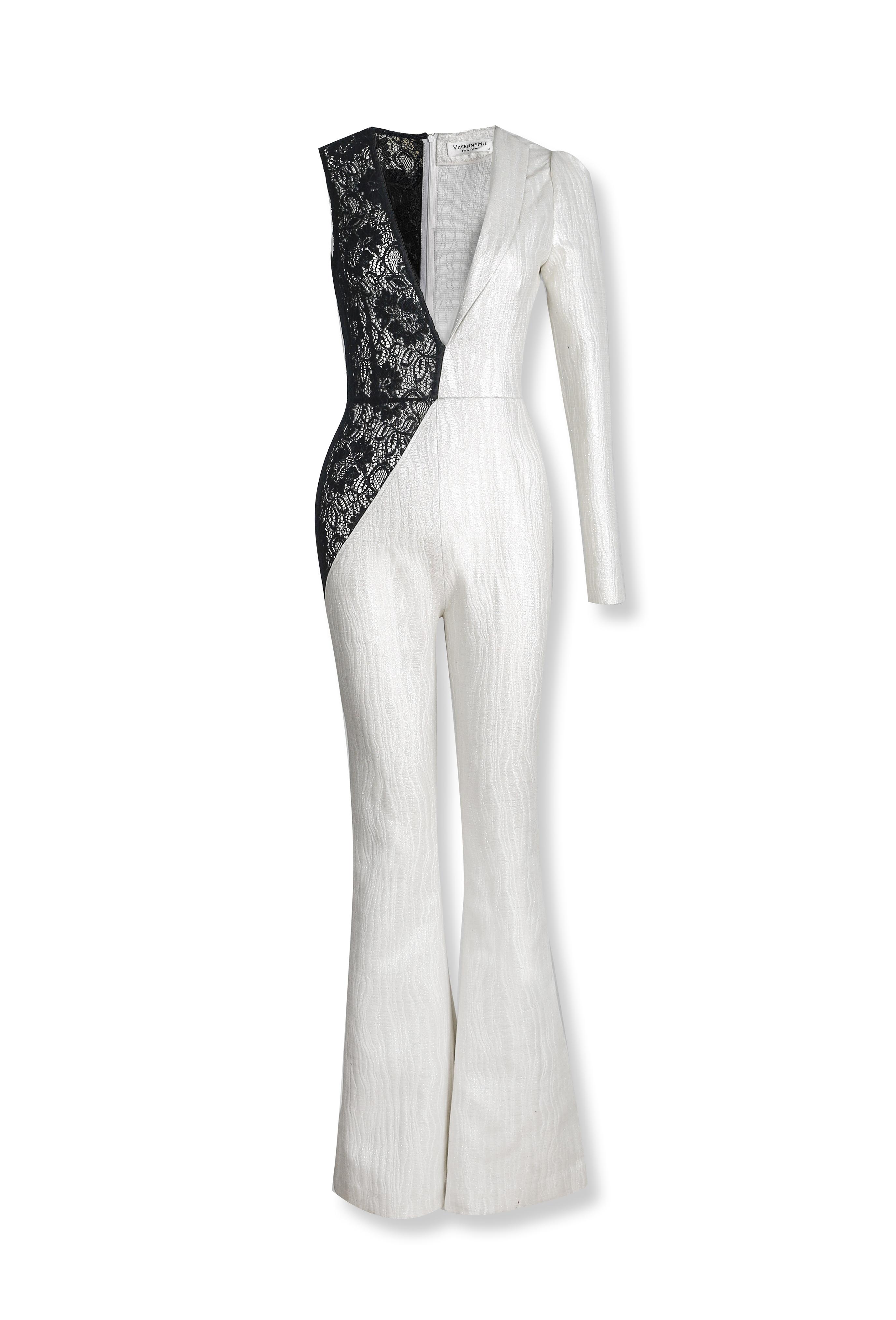 Lace Paneled Jumpsuit