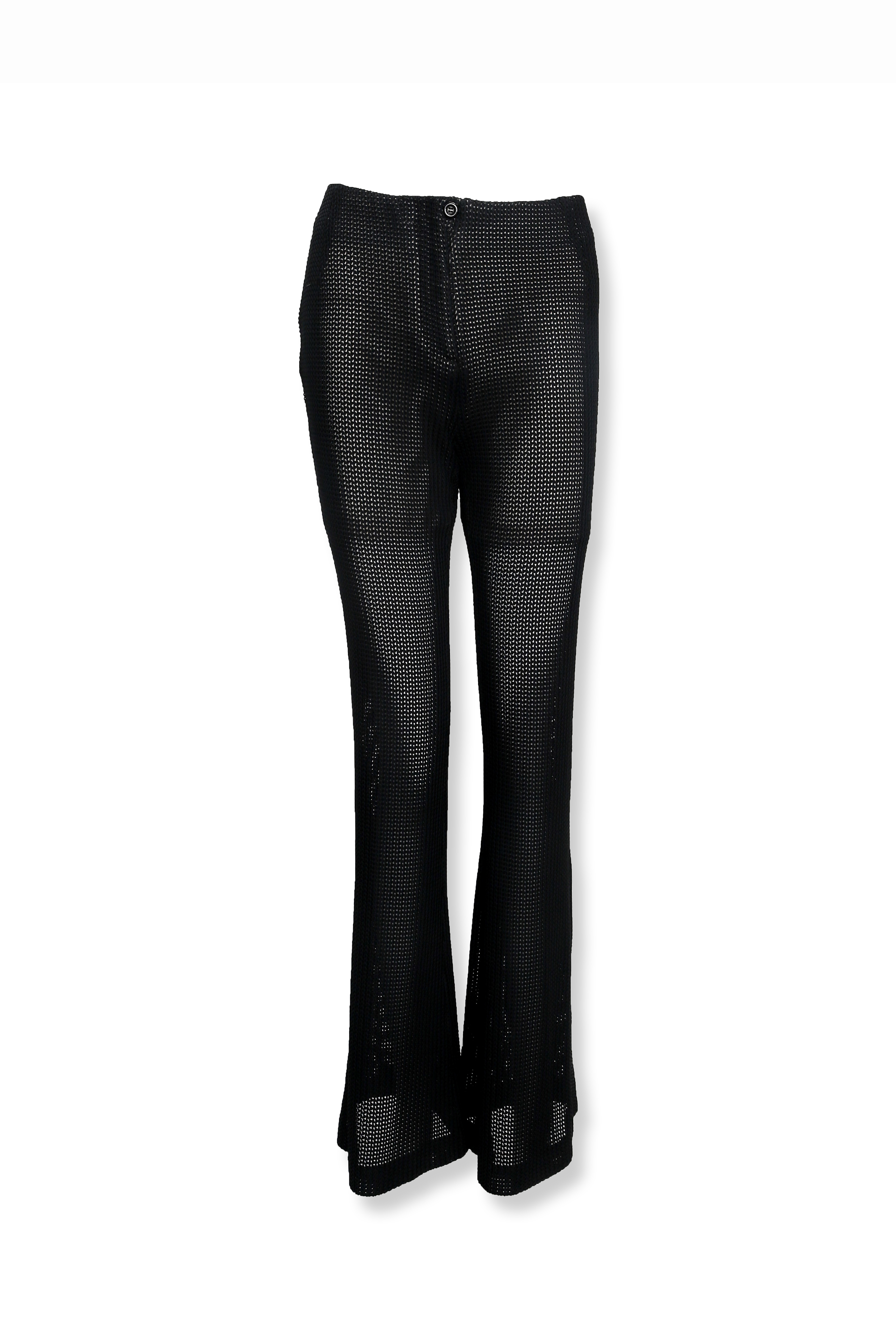Mesh Textured Flare Pants