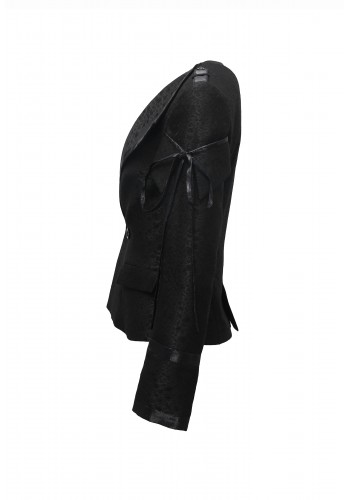 Draw-string Lapel Jacket