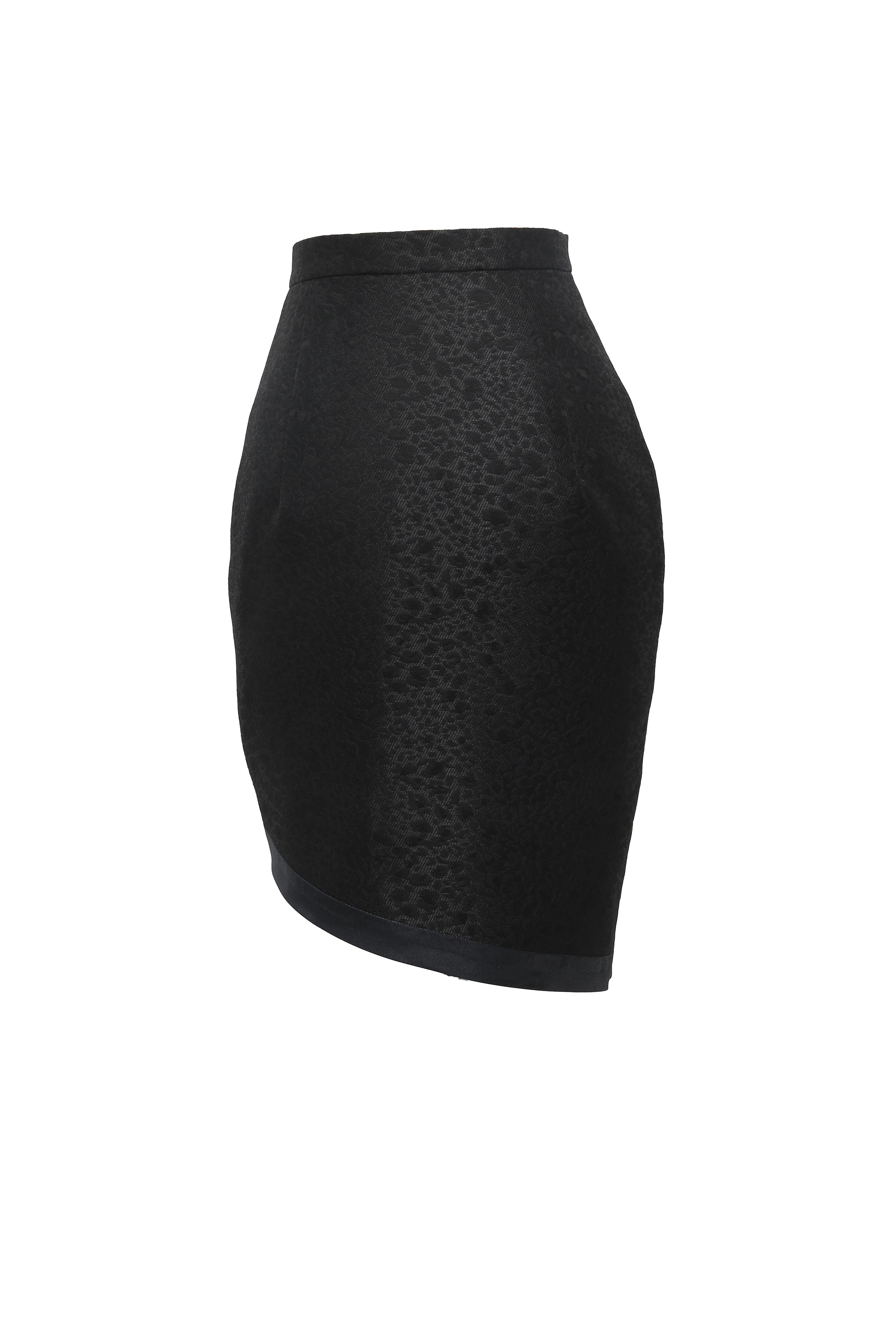 Trimmed Button-up Skirt