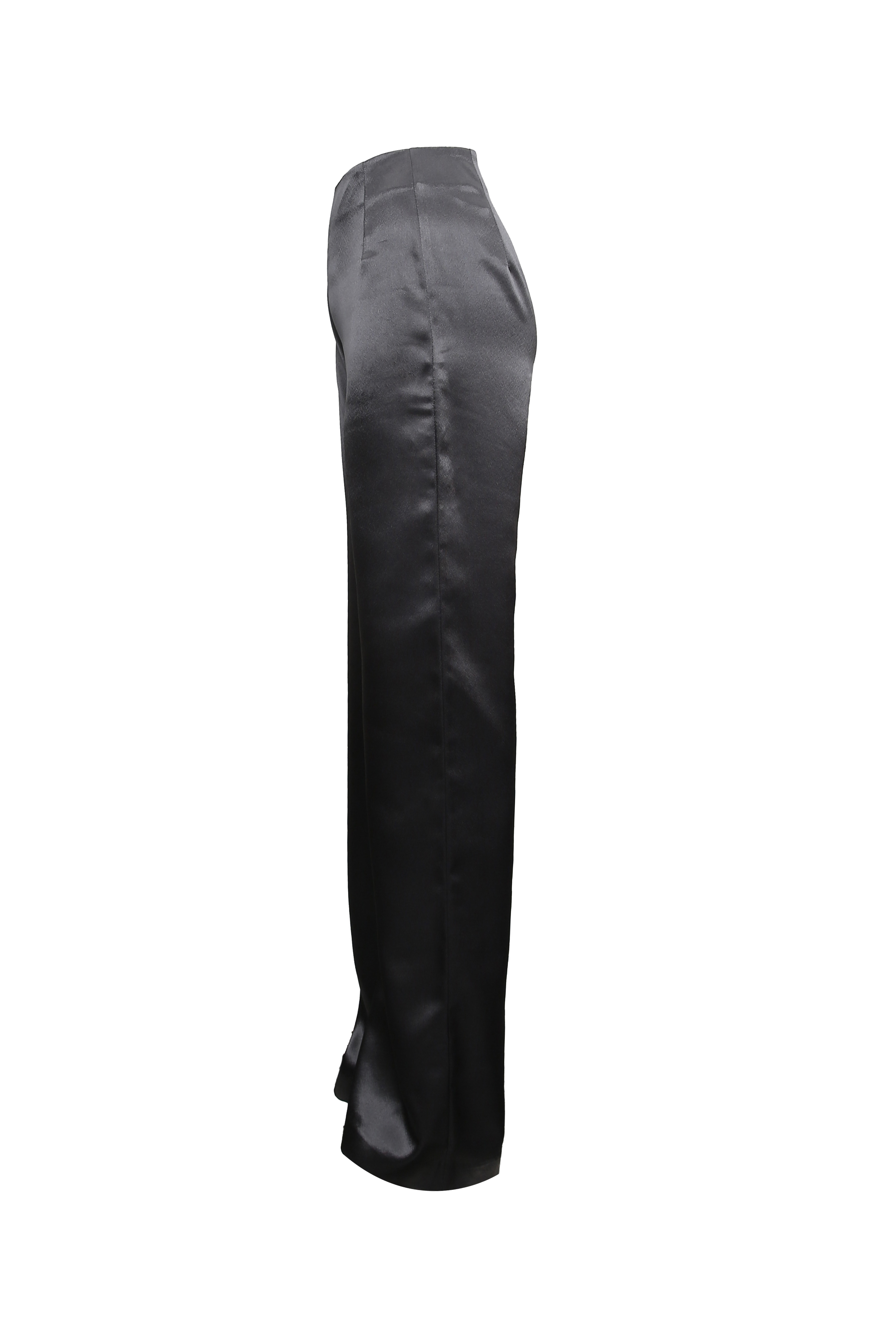 Dark Gray Satin Pants