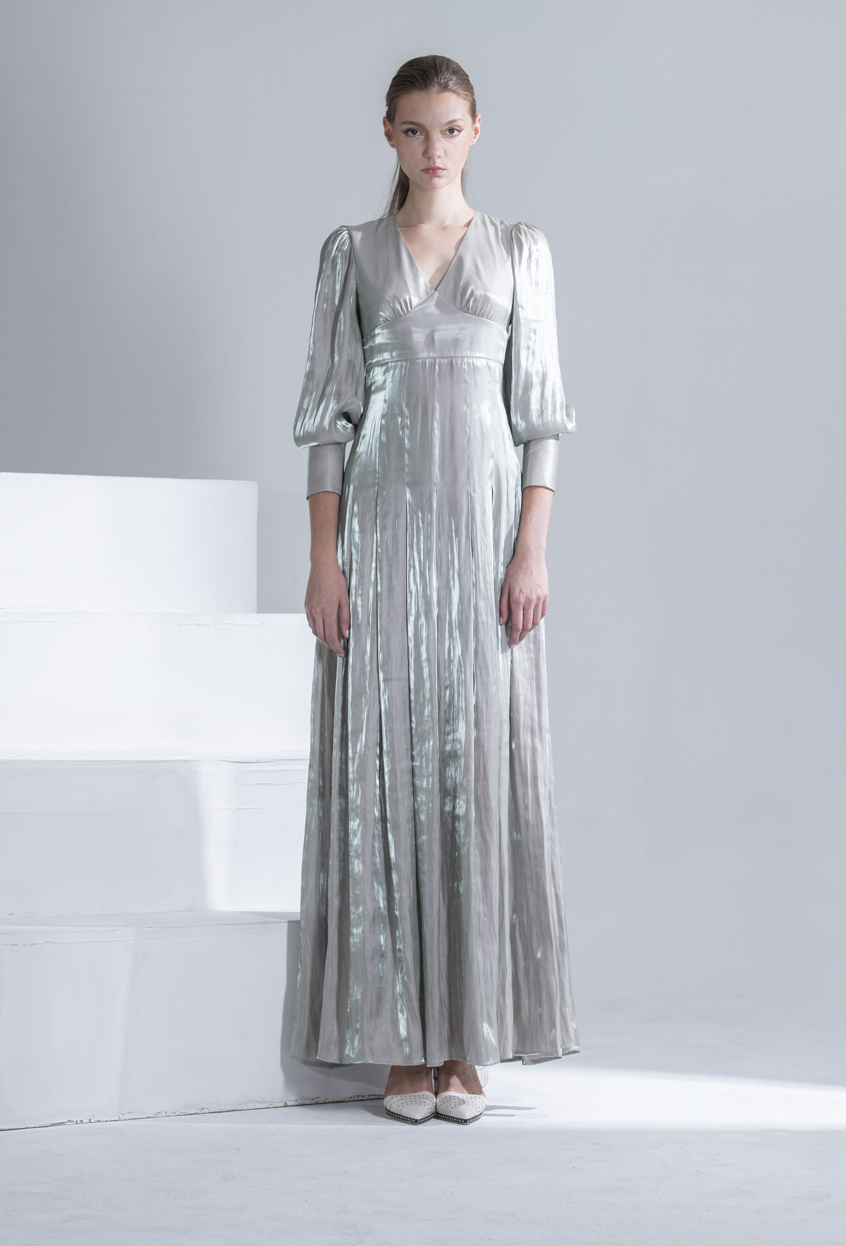 Shinny Satin Gown