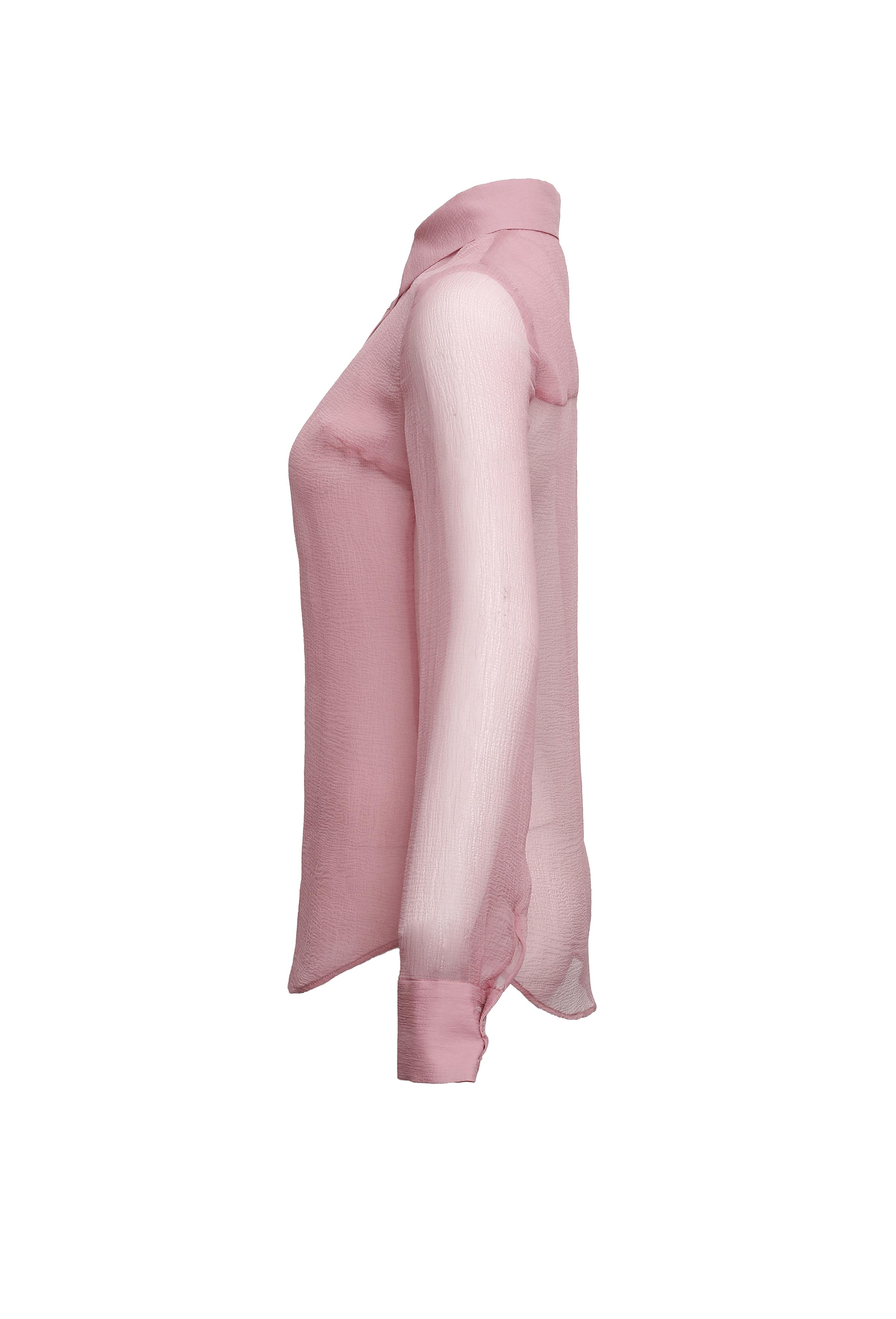 Pink Chiffon Shirt